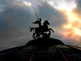Saint George monument in Moskou foto