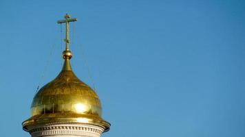 de koepel van een typische Russische kathedraal in Moskou foto