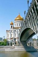 kathedraal van Christus de Verlosser in Moskou, Rusland. foto