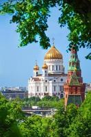 kathedraal van Christus de redder uitzicht vanaf het kremlin foto