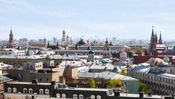 historisch centrum van Moskou stad met kremlin foto