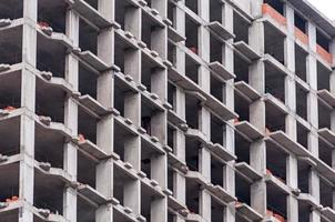 met meerdere verdiepingen bakstenen bouwconstructieplaats