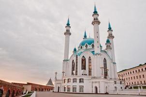 "moskee ""kul sharif"" in het kremlin van kazan, tatarstan, rusland foto"