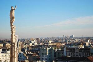 panoramisch uitzicht over Milaan foto