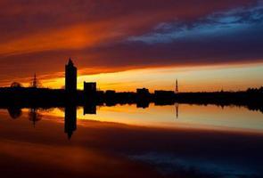 zonsondergang in tartu foto