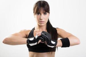 vrouwelijke bokser