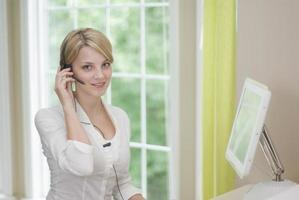 vrouwelijke secretaris foto