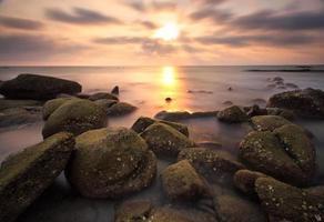 de prachtige zonsondergang