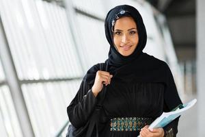 vrouwelijke moslim universiteitsstudent foto