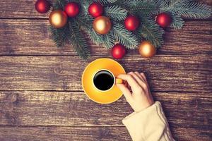 vrouwelijke bedrijf kopje koffie