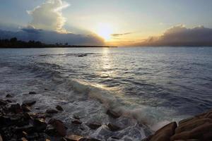 zonsondergang over Maui foto