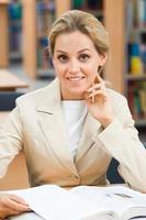 zelfverzekerde leraar foto