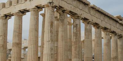 parthenon in Athene foto