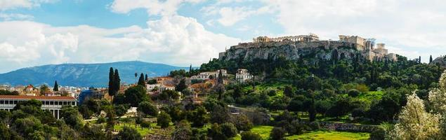 overzicht van de Akropolis in Athene, Griekenland foto