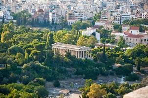 tempel van hephaestus in oude agora van areopagus. foto