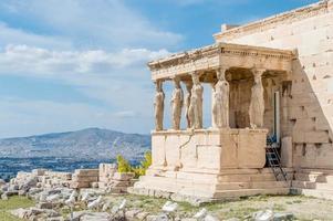 erechtheion van Athene foto