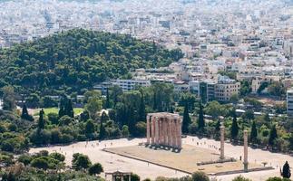 tempel van de Olympische Zeus, Athene Griekenland foto
