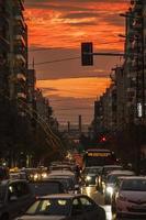 verkeer in Athene, Griekenland foto