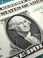 Benjamin Franklin op hundert dollarsrekening foto
