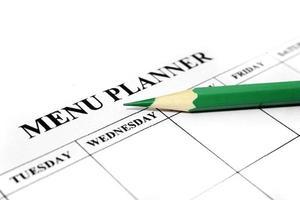 menu planner foto