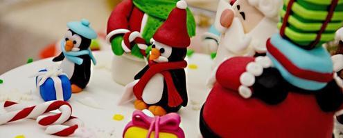 nieuwjaar en kersttaart
