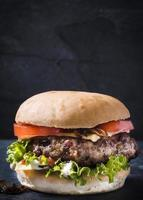 cheeseburger van rundvlees foto