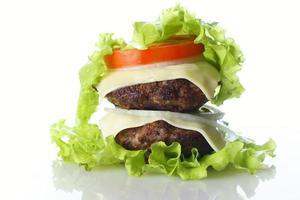 hamburger geïsoleerd foto
