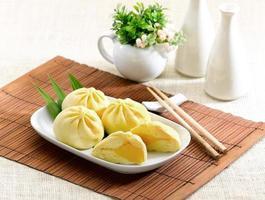 knoedel met room een Chinees eten stijl foto