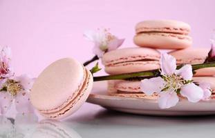 shabby chique vintage stijl roze macarons foto