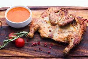 gebakken kip, Georgische stijl foto
