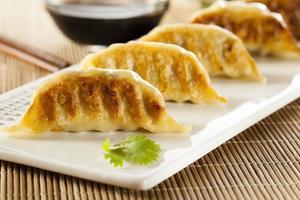 zelfgemaakte Aziatische vegeterian potstickers foto