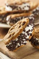 chocolate chip cookie ijs sandiwch