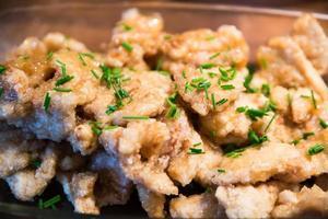 Aziatische gebakken citroenkip foto