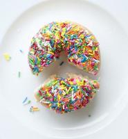 strooi donut cirkeldiagram foto