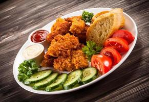 kipnuggets en groenten