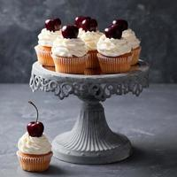 kersen cupcakes foto