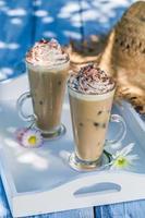 heerlijke koffie in de zomer foto