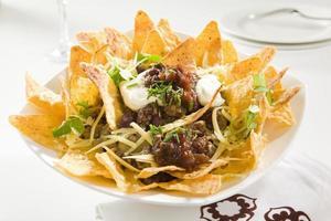 smakelijke knapperige nacho's foto