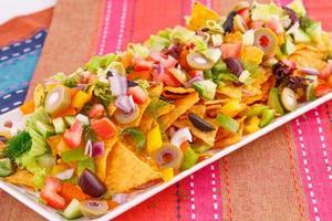 nacho's en groenten foto