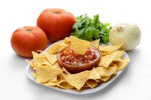 chips en salsa foto