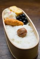 Japanse lunchbox hinomaru bento foto