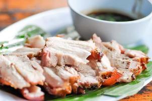 gegrild varkensvlees foto