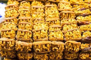 droge vruchten op beroemde Egyptische bazaar van istanbul foto