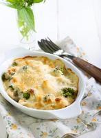bloemkool en broccoligratin foto