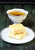 vierkanten van cheesecakes foto