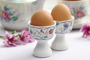 gekookte eieren foto