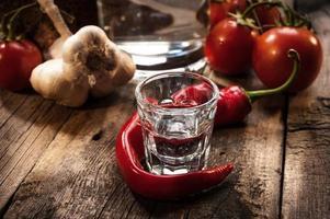 vintage wodka stilleven foto