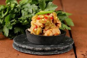 Koreaanse traditionele salade kool Kimchi foto