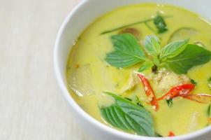 limoengroene kip en peper curry