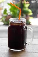 ijskoffie americano. foto